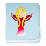 Cute Angel in Red baby blanket