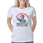 Vote Hillary Because Women's Classic T-Shirt