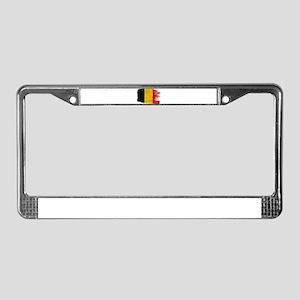 Belgium Flag License Plate Frame