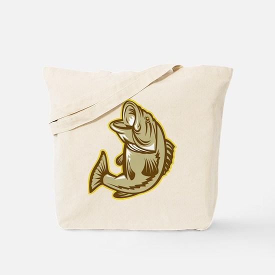 Largemouth Bass Fish Tote Bag