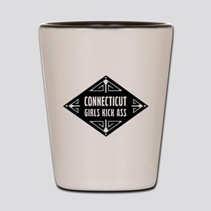 Connecticut Girls Kick Ass Shot Glass