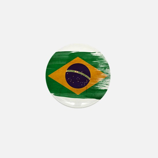 Brazil Flag Mini Button
