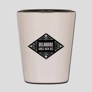 Delaware Girls Kick Ass Shot Glass