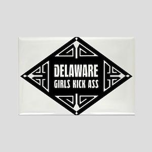 Delaware Girls Kick Ass Rectangle Magnet