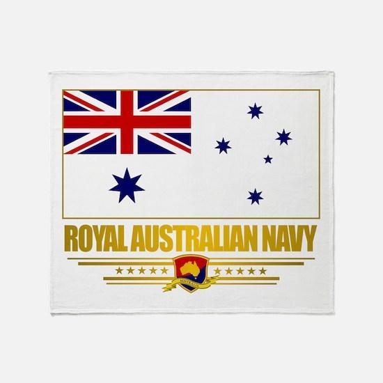 """Royal Australian Navy"" Throw Blanket"