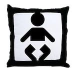 I am a Baby Icon Throw Pillow