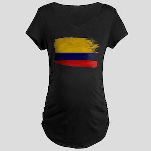 Colombia Flag Maternity Dark T-Shirt