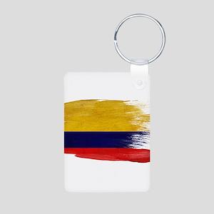 Colombia Flag Aluminum Photo Keychain