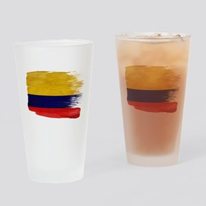 Colombia Flag Drinking Glass