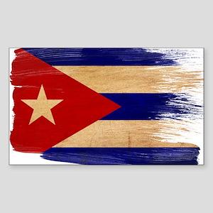 Cuba Flag Sticker (Rectangle)