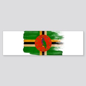 Dominica Flag Sticker (Bumper)