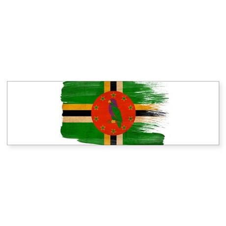 Dominica Flag Sticker (Bumper)