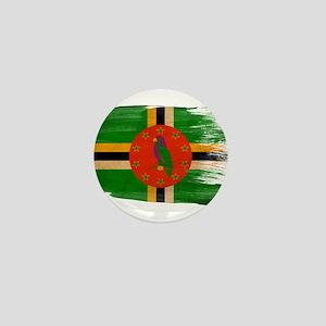 Dominica Flag Mini Button