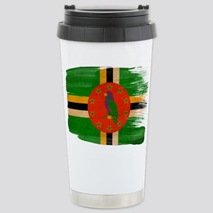 Dominica Flag Stainless Steel Travel Mug