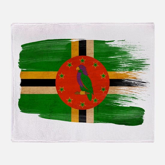 Dominica Flag Throw Blanket