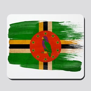Dominica Flag Mousepad
