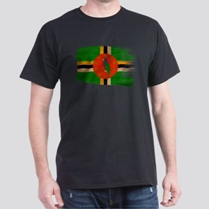 Dominica Flag Dark T-Shirt