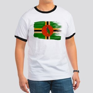 Dominica Flag Ringer T