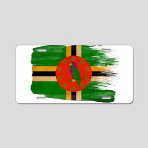 Dominica Flag Aluminum License Plate