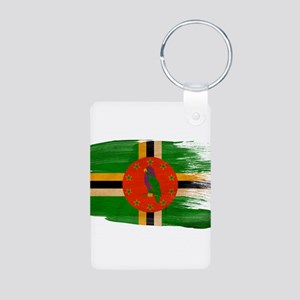 Dominica Flag Aluminum Photo Keychain