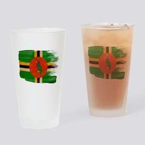 Dominica Flag Drinking Glass