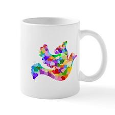 Rainbow Dove of Hearts Mug
