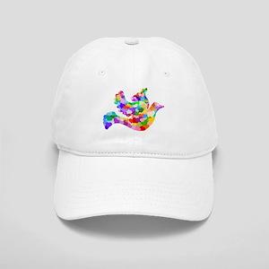 Rainbow Dove of Hearts Cap