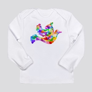 Rainbow Dove of Hearts Long Sleeve Infant T-Shirt
