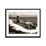 USS BREAM Framed Panel Print
