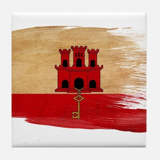 Gibraltar Flag Tile Coaster