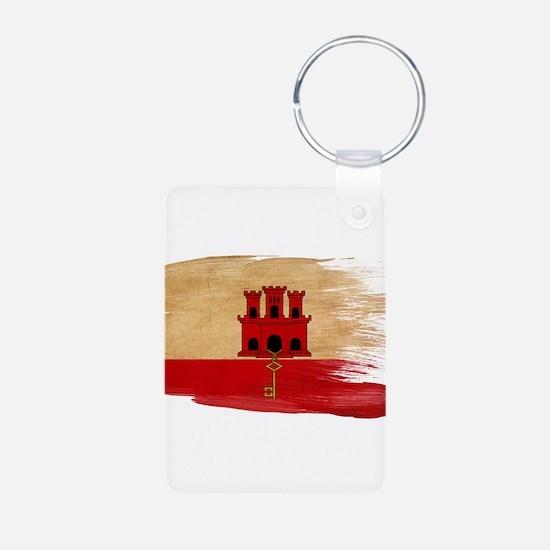 Gibraltar Flag Keychains