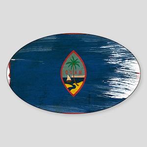 Guam Flag Sticker (Oval)