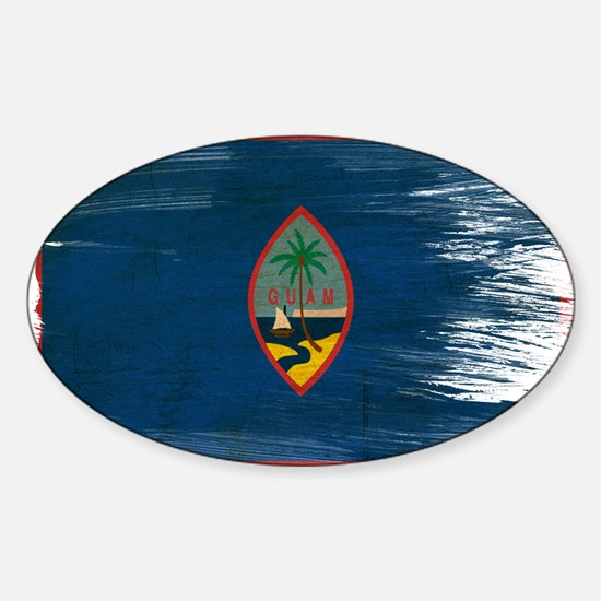 Guam Flag Sticker (Oval)