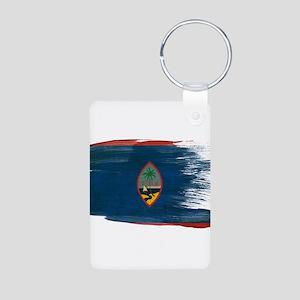 Guam Flag Aluminum Photo Keychain