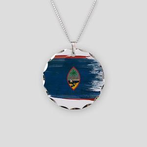 Guam Flag Necklace Circle Charm