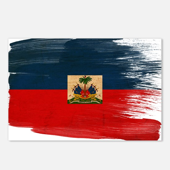 Haiti Flag Postcards (Package of 8)