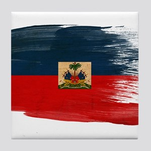 Haiti Flag Tile Coaster