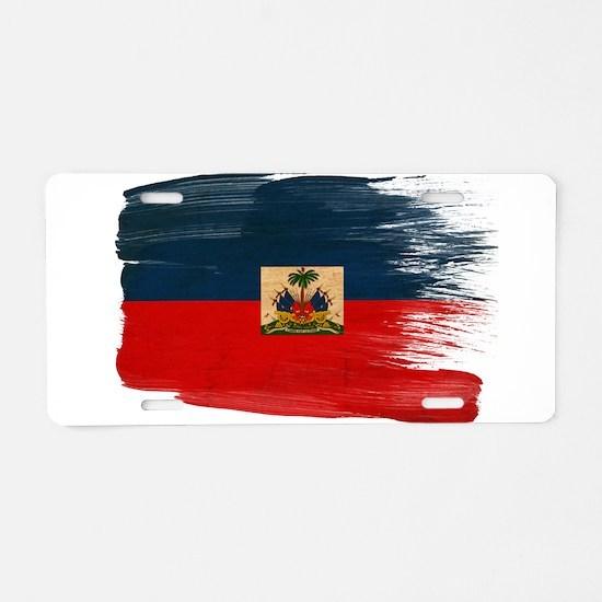 Haiti Flag Aluminum License Plate