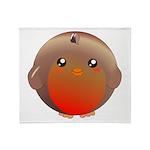 Cute Robin Bird Throw Blanket