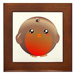 Cute Robin Bird Framed Tile