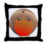 Cute Robin Bird Throw Pillow