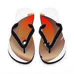 Cute Robin Bird Flip Flops