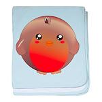 Cute Robin Bird baby blanket