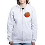 Cute Robin Bird Women's Zip Hoodie