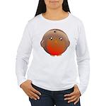 Cute Robin Bird Women's Long Sleeve T-Shirt
