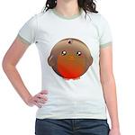 Cute Robin Bird Jr. Ringer T-Shirt