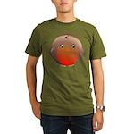 Cute Robin Bird Organic Men's T-Shirt (dark)