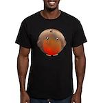 Cute Robin Bird Men's Fitted T-Shirt (dark)