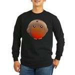 Cute Robin Bird Long Sleeve Dark T-Shirt