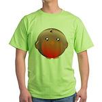 Cute Robin Bird Green T-Shirt